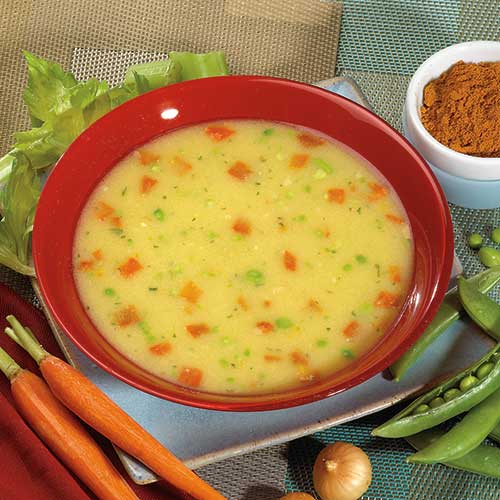 Cream Of Chicken Flavored Soup With Vegetables