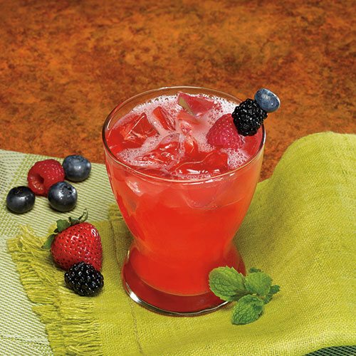 Fruity Mixed Berry Drink with Fiber