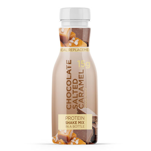 Chocolate Salted Caramel Shake Mix In A Bottle