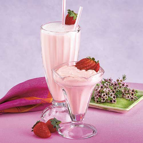 Strawberry Pudding and Shake