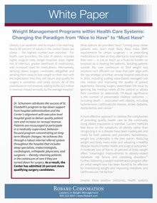 Positioning Weight Management White Paper