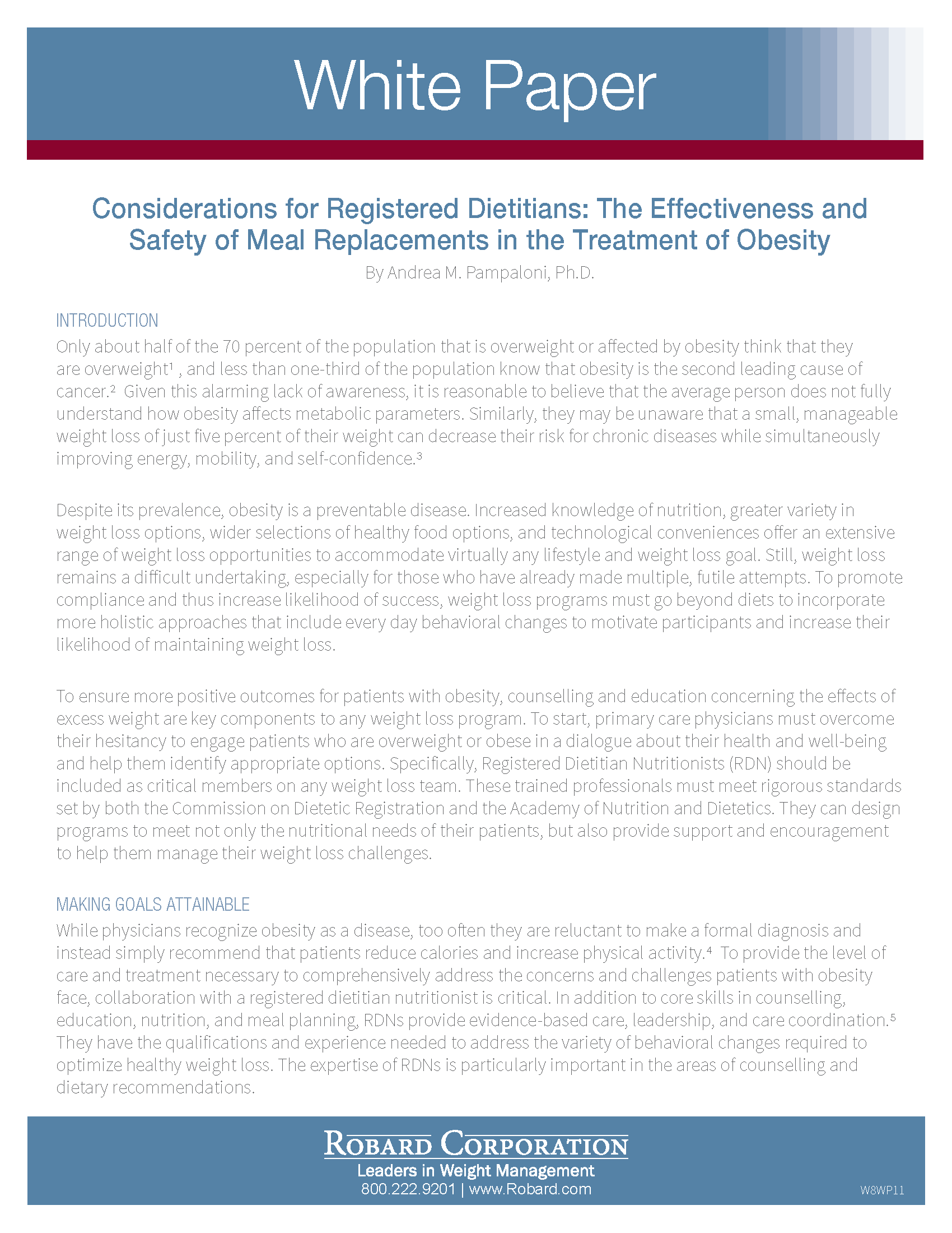 Considerations For Registered Dietitians White Paper