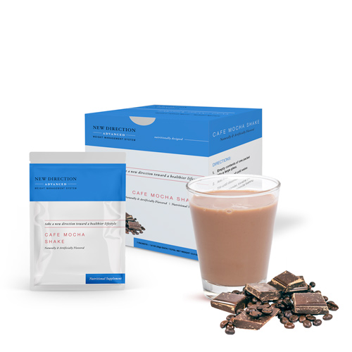 New Direction Advanced Cafe Mocha Shake product line by Robard