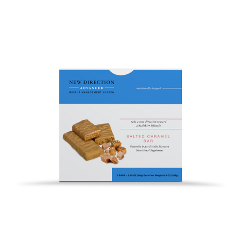 New Direction Advanced Salted Caramel Bar box by Robard