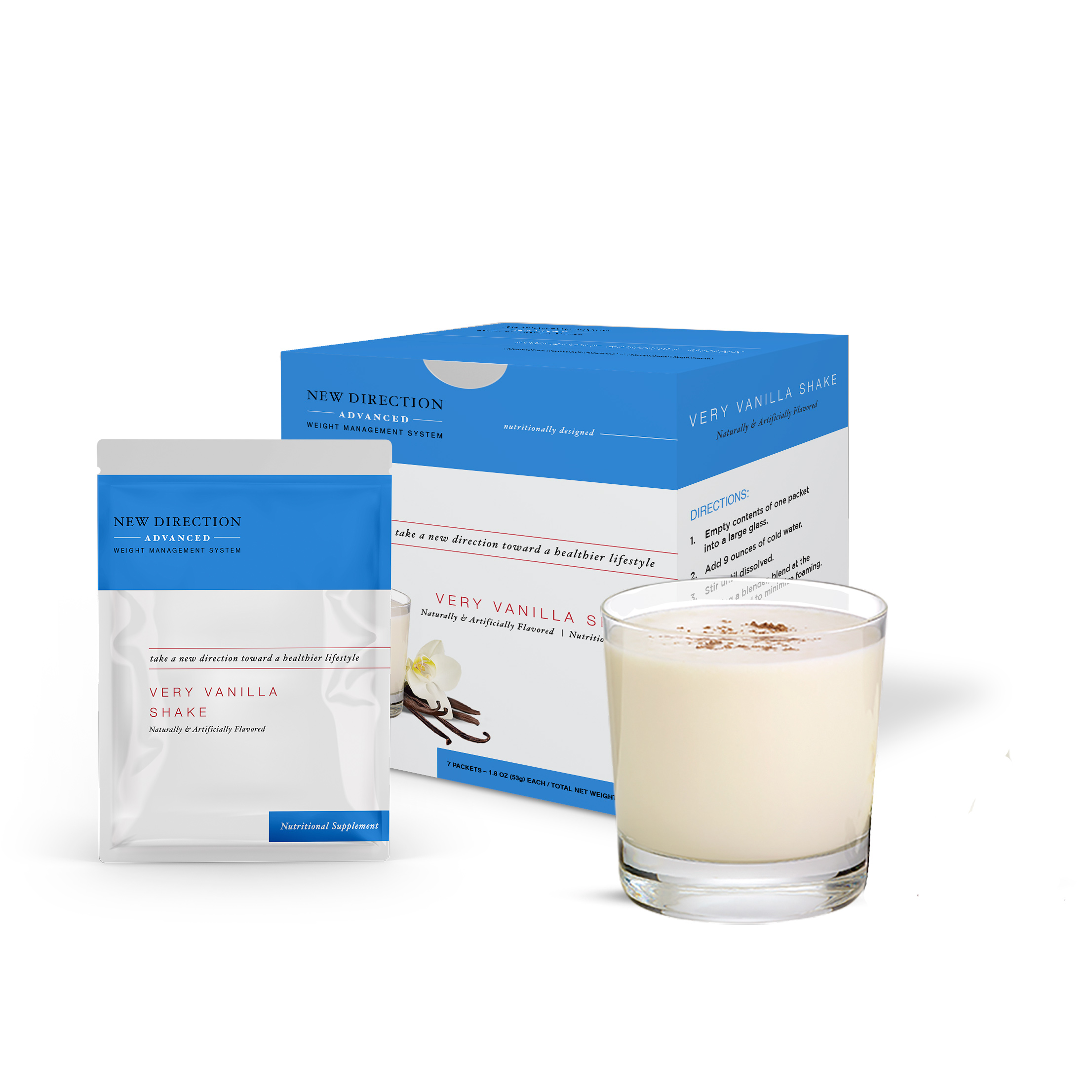 New Direction Advanced Vanilla Shake product line by Robard