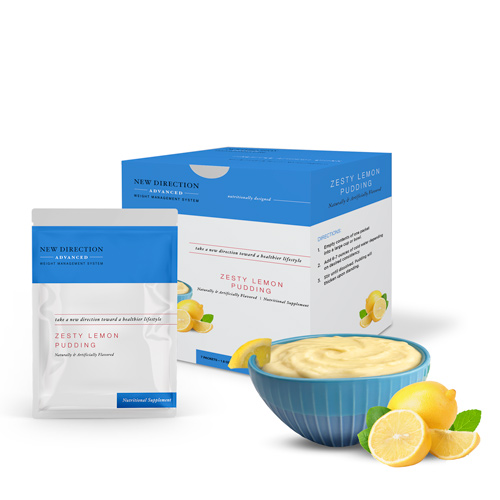 New Direction Advanced Zesty Lemon Pudding product line by Robard
