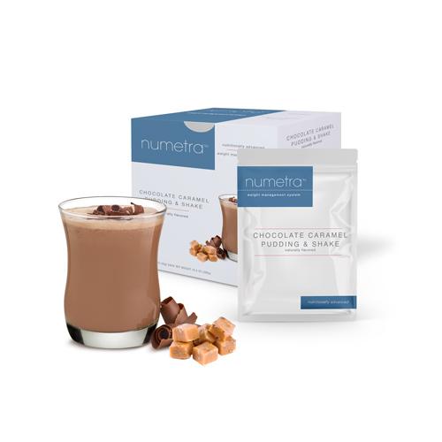 Numetra Chocolate Caramel Pudding & Shake product line