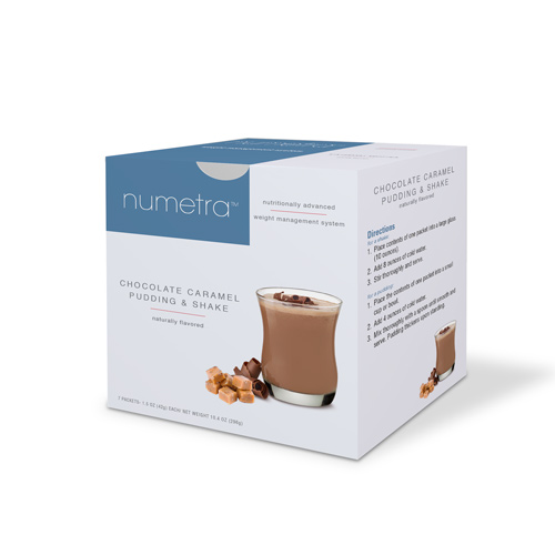 Numetra Chocolate Caramel Pudding & Shake box