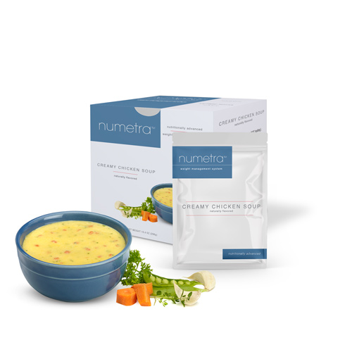 Numetra Creamy Chicken Soup product line