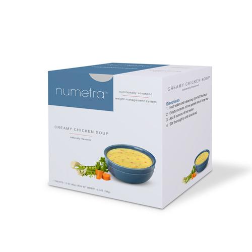 Numetra Creamy Chicken Soup box