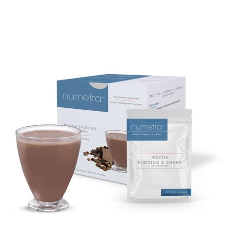 Numetra Mocha Pudding & Shake product line