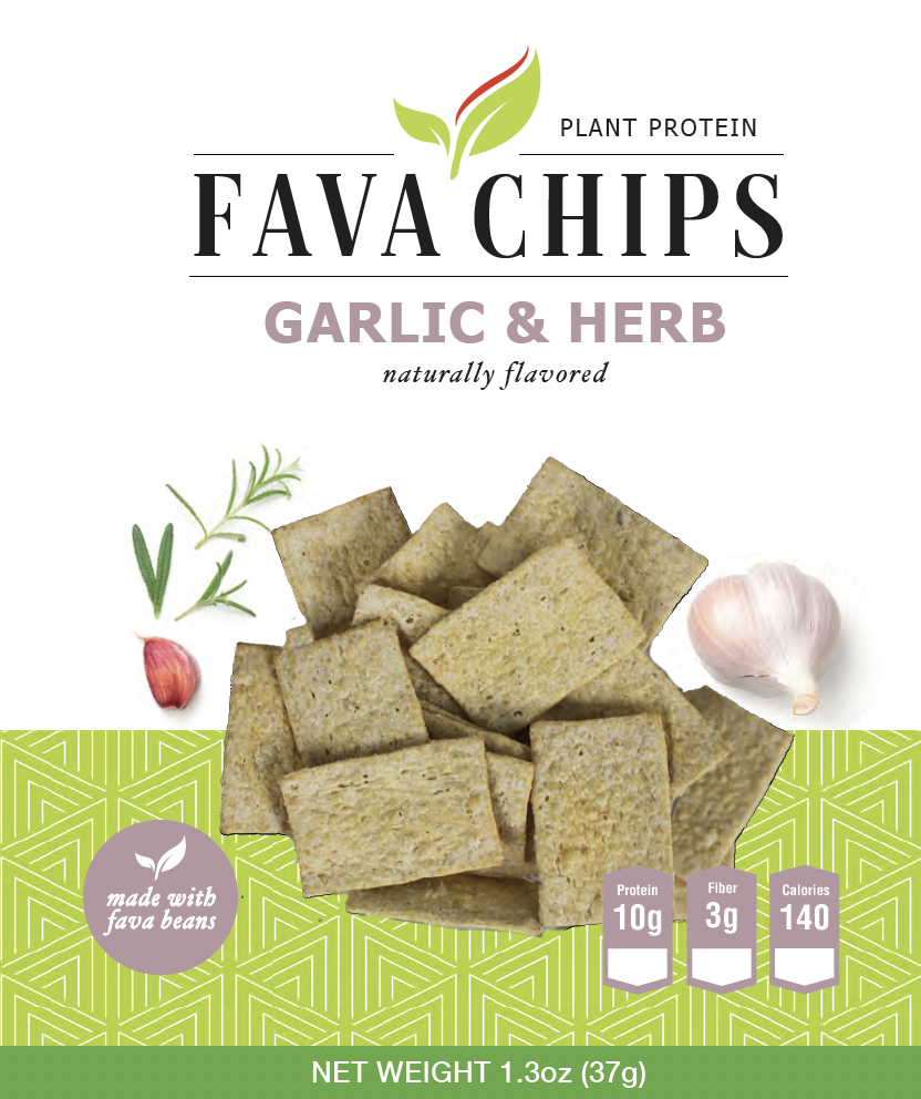 Fava Bean Garlic & Herb Chip