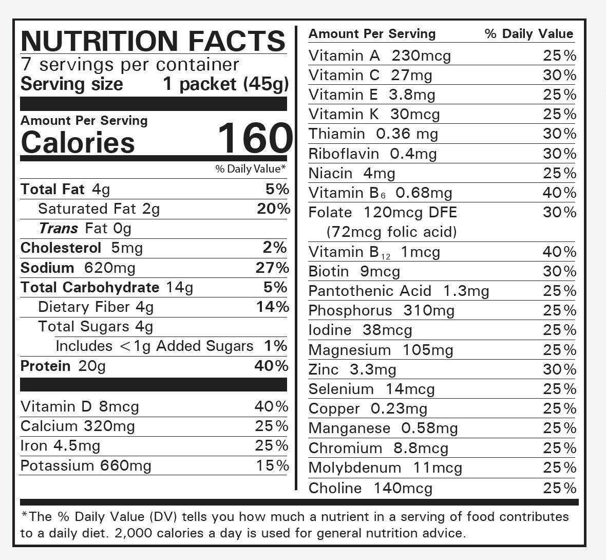 Numetra Macaroni Marinara Nutrition Facts
